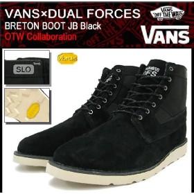 バンズ VANS×DUAL FORCES スニーカー ブルトン ブーツ JB Black コラボ(vans VN-0Q9S6K9 DUAL FORCES BRETON BOOT JB OTW 限定 Sneaker)