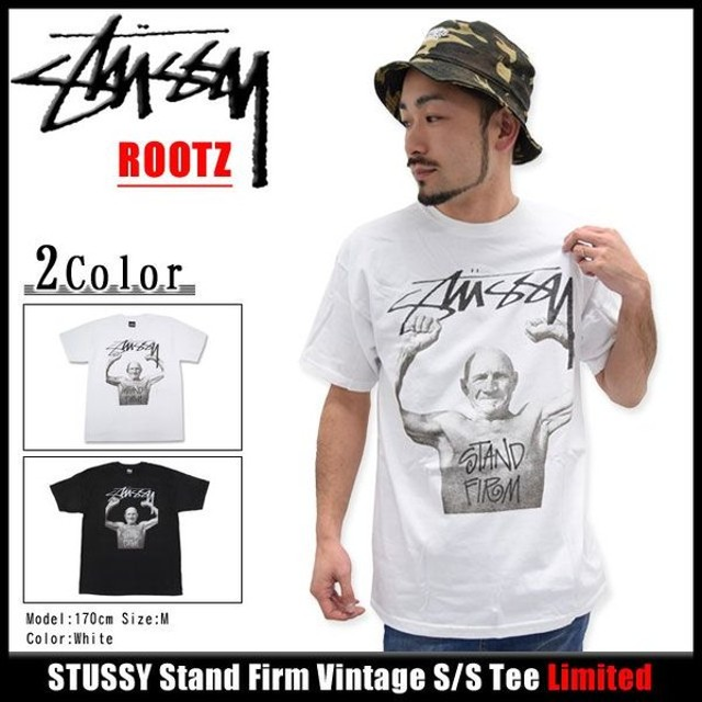 ステューシー STUSSY Stand Firm Vintage Tシャツ 半袖 限定(stussy tee ティーシャツ T-SHIRTS トップス メンズ・男性用 ROOTZ 3902695)