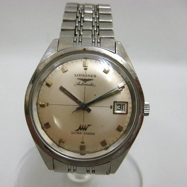 411c07c03c ロンジン ウルトラクロン 自動巻き シルバー 純正ブレス 時計 腕時計 メンズ 【中古】【あす