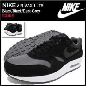 ナイキ NIKE スニーカー エア マックス 1 LTR Black/Black/Dark Grey 限定 メンズ(男性用) (nike AIR MAX 1 LTR ICONS 654466-005)