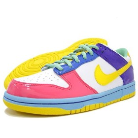NIKE(ナイキ) DUNK LOW GS White/Yellow/Lt.Rose Childrens Day Pack