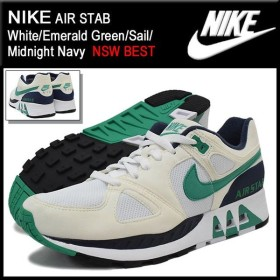 ナイキ NIKE スニーカー エア スタブ White/Emerald Green/Sail/Midnight Navy 限定 メンズ(男性用) (nike AIR STAB NSW BEST 312451-100)