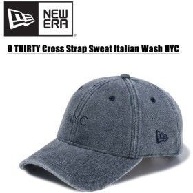 ニュー エラ NEW ERA  9THIRTY クロスストラップ スウェット イタリアンウォッシュ NYC Mid Night Navy   キャップ 帽子 男性用 [BB]