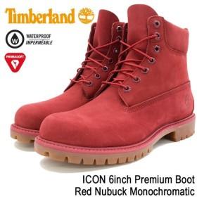 ティンバーランド ブーツ 日本正規品 Timberland メンズ 男性用 アイコン 6インチ プレミアム Red Nubuck Monochromatic(A1149 Boot)