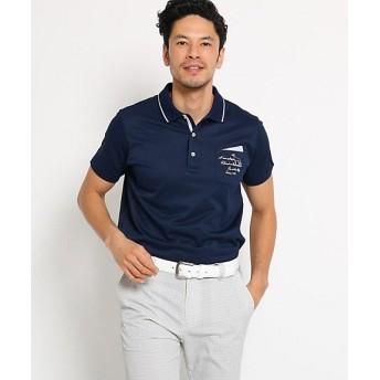 【SALE(三越)】<アダバット/adabat> 胸ポケット付きミニチェック半袖ポロシャツ メンズ(2001514680) アオ 【三越・伊勢丹/公式】