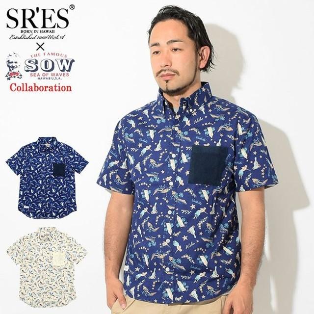 エスアールエス SRES メンズ ソウ ライク ビンテージ アロハ コラボ(SOW Like Vintage Aloha S/S Shirt アロハシャツ トップス SHT00280)