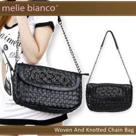melie bianco Woven And Knotted Chain BAG メリービアンコ チェーン ショルダー ハンドバッグ[CC]