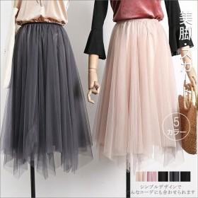 花柄 スカート フレアスカート リネンスカート ロングスカート チュール スカート 今季新作 フラワー柄 韓国風 レディース ファッション