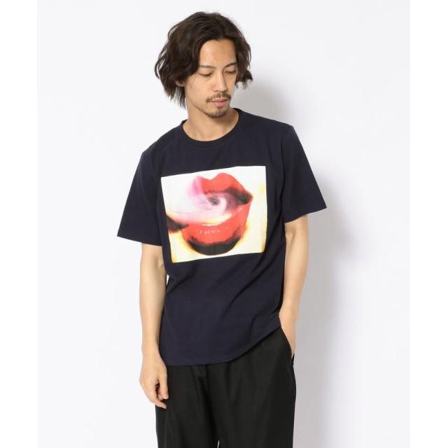 【68%OFF】 エルエイチピー MADDICT/マディクト/ルーズシルエット 唇プリントTシャツ メンズ NAVY L 【LHP】 【セール開催中】