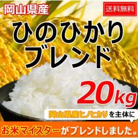 米 お米 20kg ヒノヒカリブレンド (5kg×4袋) 送料無料 クーポン使用可能