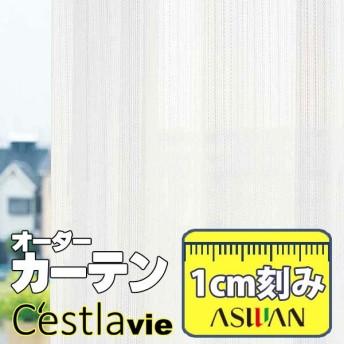 カーテン プレーンシェード アスワン セラヴィ C'estlavie High Spec Lace E7272 ハイグレード縫製 約2倍ヒダ