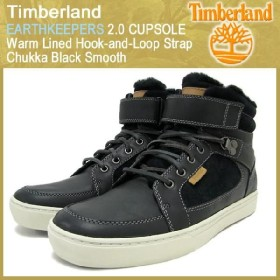 ティンバーランド Timberland アースキーパーズ 2.0 カップソール ウォーム ラインド フック アンド ループ ストラップ チャッカ ブラック スムース