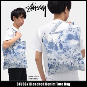 ステューシー STUSSY トートバッグ Bleached Denim(stussy tote bag メンズ レディース 134166 小物)