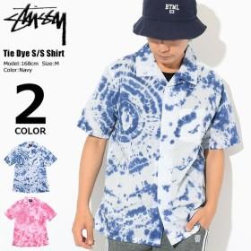 ステューシー シャツ 半袖 STUSSY メンズ Tie Dye(stussy shirt タイダイ オープンカラーシャツ トップス 男性用 111982 USAモデル 正規)