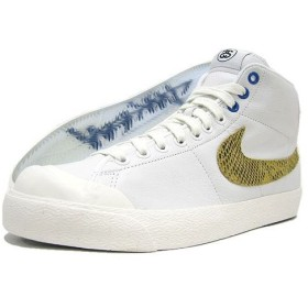 NIKE(ナイキ)×STUSSY ALL COURT MID SUPREME White 30周年記念