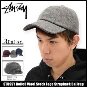 ステューシー STUSSY キャップ 帽子 Boiled Wool Stock Logo Strapback Cap(ストラップバック 男性用 131635)