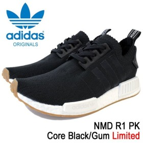 アディダス adidas スニーカー メンズ 男性用 ノマド R1 PK Core Black/Gum オリジナルス(adidas NMD R1 PK Limited Originals BY1887)