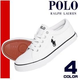 ポロ ラルフローレン Polo Ralph Lauren スニーカー レディース キャンバス シューズ ローカット 白 ホワイト BRISBANE【アウトレット】
