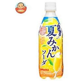 【送料無料】サンガリア おいしい夏みかんソーダ 500mlペットボトル×24本入