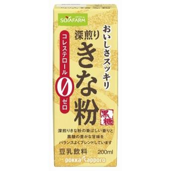 Pサッポロ おいしさスッキリきな粉豆乳飲料(G) 200ml まとめ買い(×24)|4582409182045(tc)