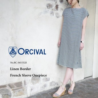 ORCIVAL Linen Border French Sleeve Onepiece(レディース) RC-3651YLR〔SK〕