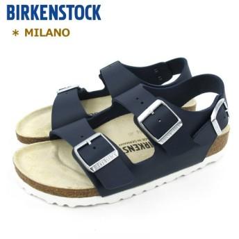 ビルケンシュトック レディース メンズ サンダル ミラノ ネイビー #1006153(幅狭) BIRKENSTOCK MILANO 〔SK〕