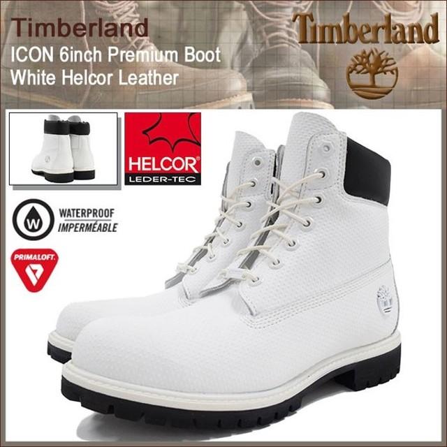 ティンバーランド Timberland ブーツ メンズ 男性用 アイコン 6インチ プレミアム ホワイト ヘルコア レザー(A1GUY 6inch Boot White 防水)