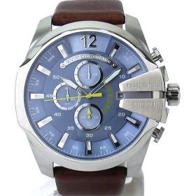ディーゼル DIESEL メガチーフ DZ4281 メンズ腕時計 クロノグラフ ライトブルー/ブラウン 新品アウトレット
