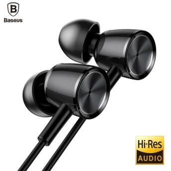 【メール便対応】Baseus H07 Hi-Res イヤホン ハイレゾ対応 ステレオヘッドホン 高音質 高遮音性 3.5mmカナル型 イヤホン 高音質 ヘッドホン マイク