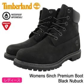 ティンバーランド ブーツ 日本正規品 Timberland ウィメンズ 6インチ プレミアム Black Nubuck(8658A Womens 6inch Premium Boot 防水)