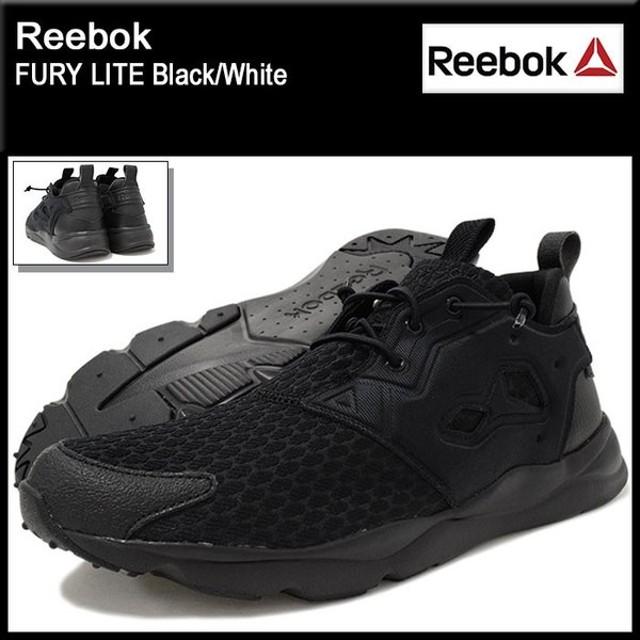 リーボック Reebok スニーカー メンズ 男性用 フューリー ライト Black/White(reebok FURY LITE FURYLITE AR2783)