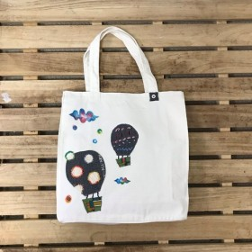 ★SALE‼︎★ 20%OFF★気球のキャンバストート《刺繍&手描き》