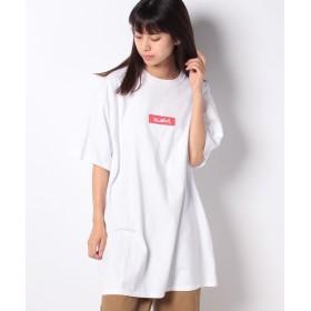エックスガール BOX LOGO S/S SUPER BIG TEE レディース ホワイト ONE SIZE 【X-girl】