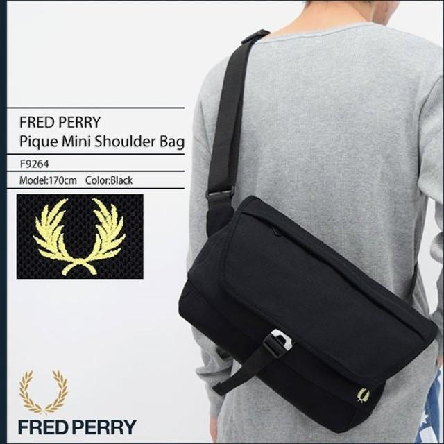フレッドペリー FRED PERRY ショルダーバッグ ピケ ミニ ショルダー バッグ 日本企画(F9264 Pique Mini Shoulder Bag メンズ レディース)