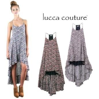 ルッカクチュール ワンピース マキシワンピース キャミワンピ ロング 夏 春 リゾート 大人 大きいサイズ 半袖 花柄 シフォン かわいい Lucca Couture