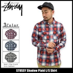 ステューシー シャツ 長袖 STUSSY メンズ Shadow Plaid(stussy shirt カジュアルシャツ トップス 男性用 111892)