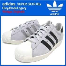 アディダス adidas スーパースター 80s Grey/Black/Legacy ビンテージ オリジナルス(adidas SUPER STAR 80s Grey/Black/Legacy Vintage Originals G61071)