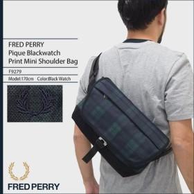 フレッドペリー FRED PERRY ショルダーバッグ ピケ ブラックウォッチ プリント ミニ ショルダー バッグ 日本企画(F9279 Pique Blackwatch)