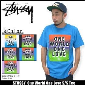 ステューシー STUSSY One World One Love Tシャツ 半袖(stussy tee ティーシャツ T-SHIRTS トップス メンズ・男性用 1903301)