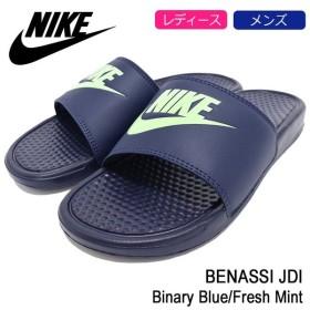 ナイキ NIKE サンダル レディース & メンズ ベナッシ JDI Binary Blue/Fresh Mint(nike BENASSI JDI シャワーサンダル ネイビー 343880-407)
