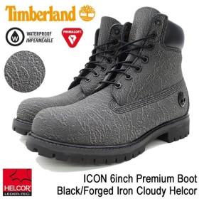 ティンバーランド Timberland ブーツ メンズ 男性用 アイコン 6インチ プレミアム Black/Forged Iron Cloudy Helcor(A1JDC ICON 6inch Boot)