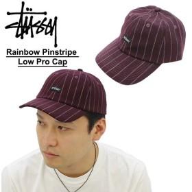 ステューシー STUSSY Rainbow Pinstripe Low Pro Cap キャップ 帽子[BB]