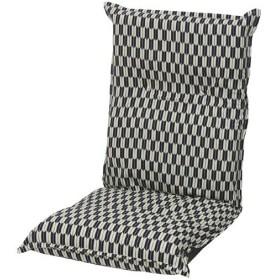 リクライニング座椅子 座椅子 ハイバック ハイバック座椅子 矢絣 紺色 幅48cm リクライニング チェア ソファ リクライニングソファ 一人掛けソファ