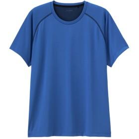(GU)クルーネックT(半袖)(ステッチ)GS BLUE XL