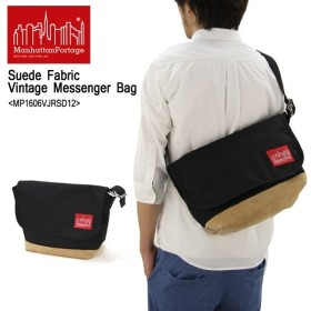 マンハッタン ポーテージ Manhattan Portage  Suede Fabric Vintage Messenger Bag 1606VJRSD12  メッセンジャーバッグ M