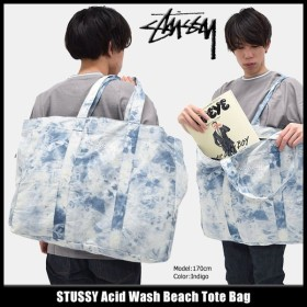 ステューシー STUSSY トートバッグ Acid Wash Beach(stussy tote bag トート バッグ メンズ レディース 134165 小物)