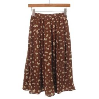 Te chichi TERRASSE / テチチテラス レディース スカート 色:茶x白系xカーキ(花柄) サイズ:S