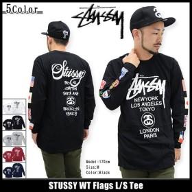 ステューシー STUSSY Tシャツ 長袖 メンズ WT Flags(stussy tee T-SHIRTS カットソー トップス ロンt メンズ・男性用 1993693)