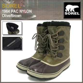 ソレル SOREL ブーツ 1964 パック ナイロン Olive/Brown メンズ 男性用(1964 PAC NYLON Boot Boots ウィンター・ブーツ MENS NM1440-334)