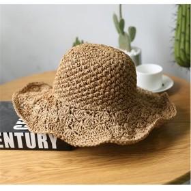 送料無料 麦わら帽子 ストローハット紫外線 防止 UVカット レディース
